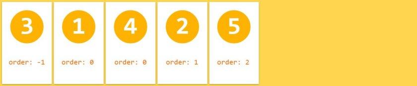 flexbox order