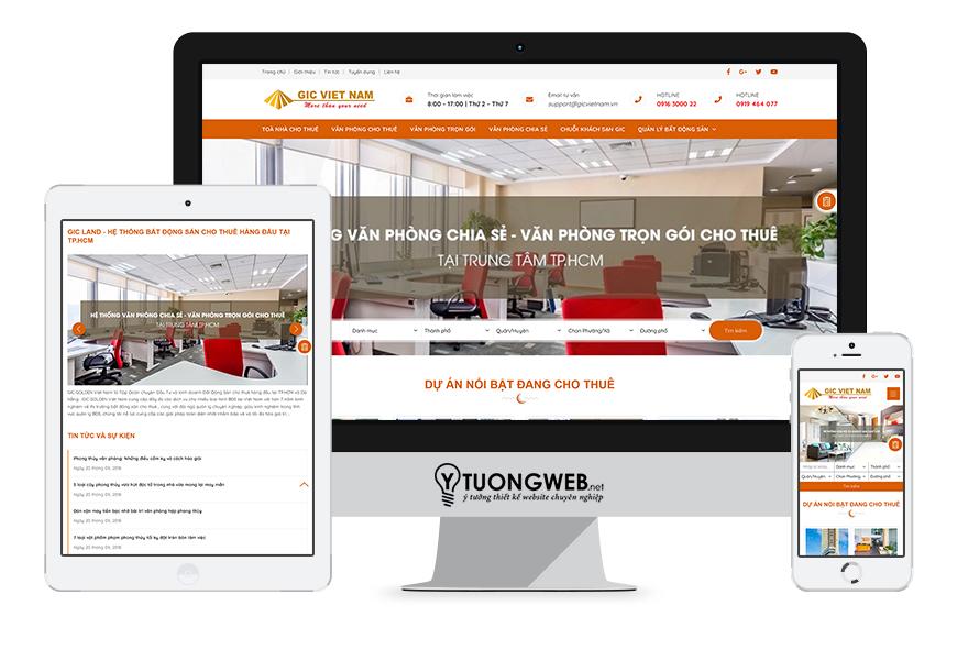 Thiết kế website responsive bất động sản gicvietnam.vn