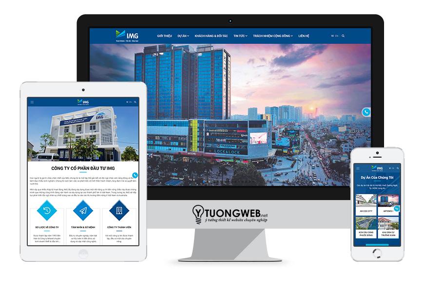 Thiết kế website responsive bất động sản img.vn