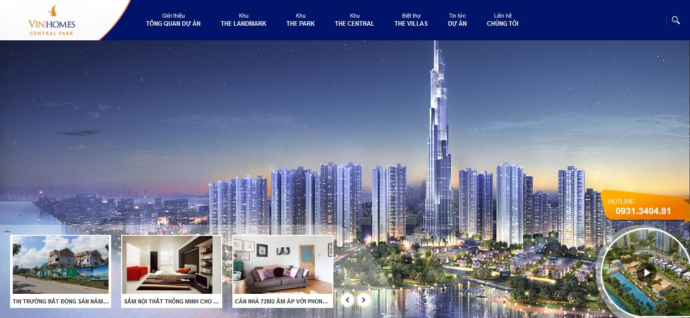 Thiết kế website bất động sản vhcp.vn