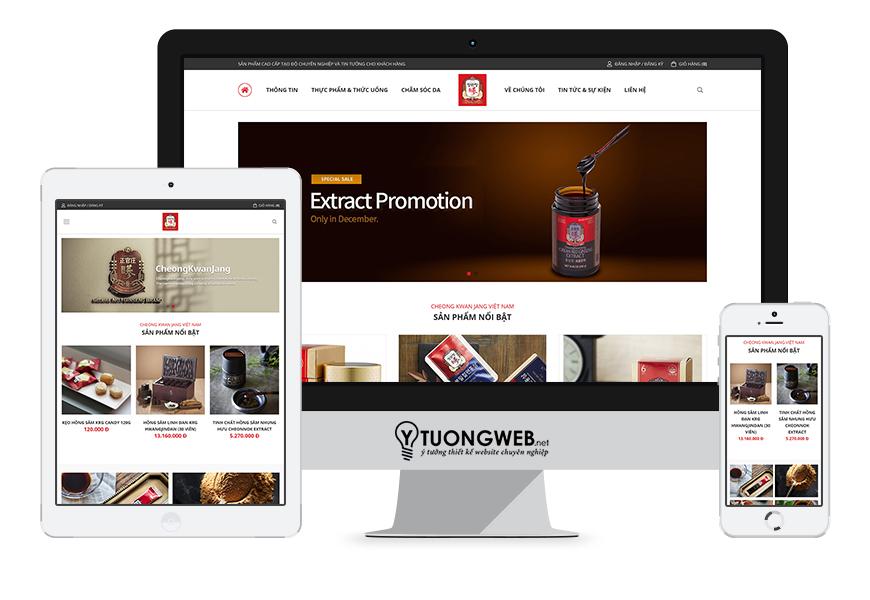 Thiết kế website responsive công ty ckj.vn