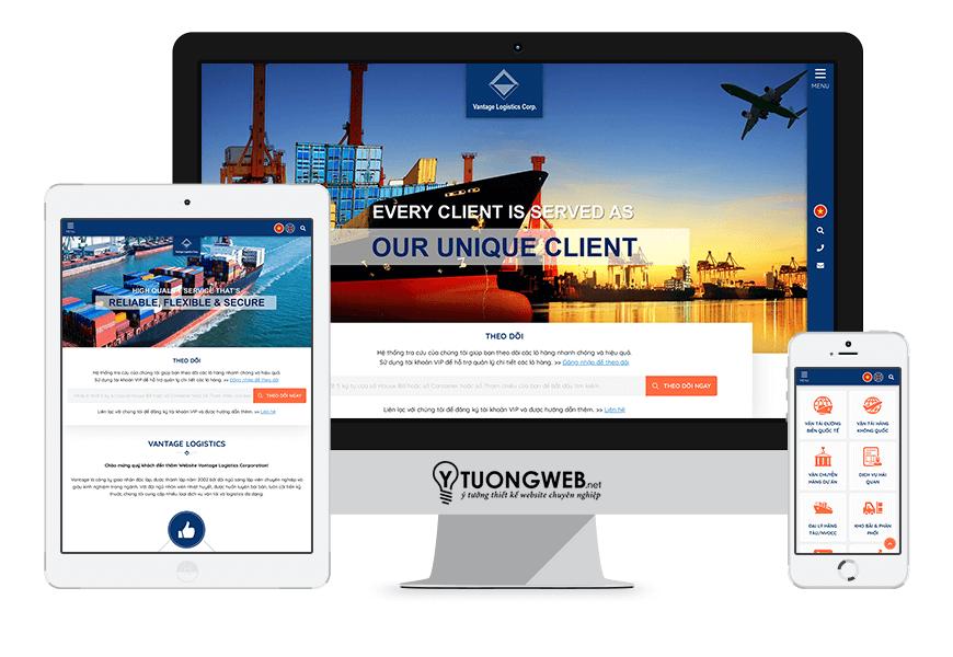 Thiết kế website responsive công ty vantage-logistics.com.vn