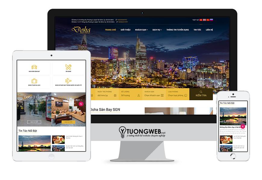 Thiết kế website responsive khách sạn dohahotel.com.vn
