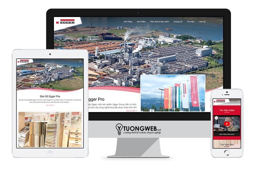 Thiết kế website langding page sàn gỗ sangoegger