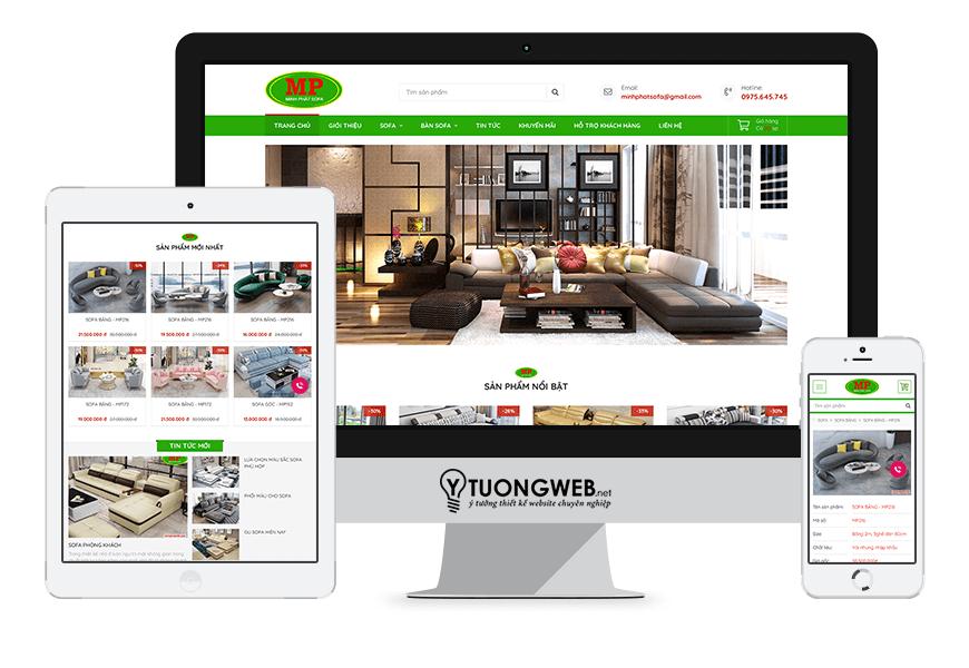 Thiết kế website responsive nội thất minhphatsofa.com