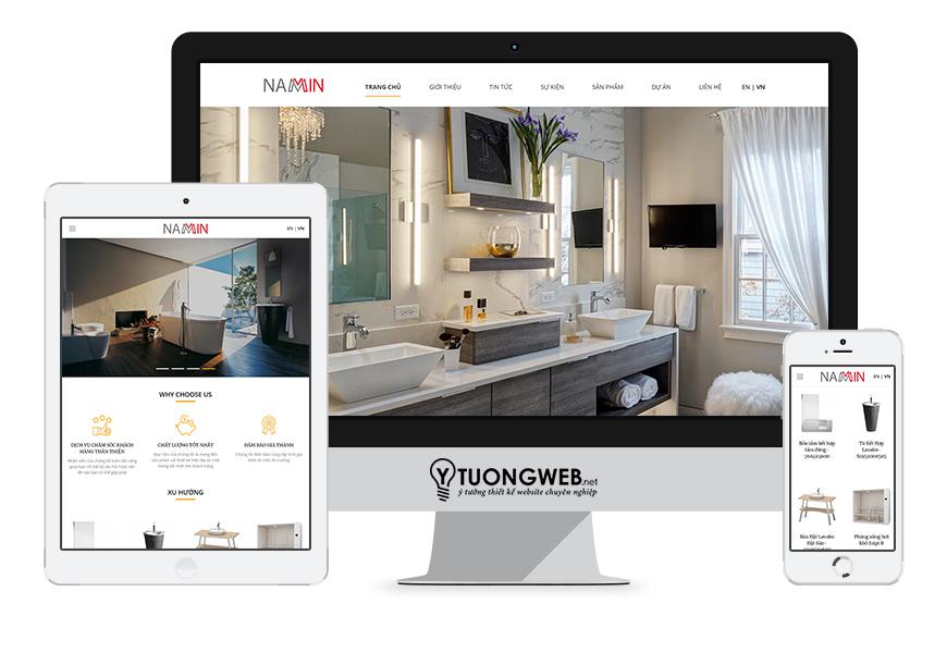 Thiết kế website responsive nội thất namin.com.vn