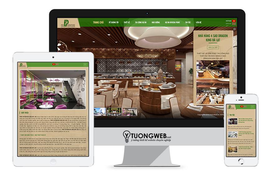 Thiết kế website responsive nội thất perfurniture.vn