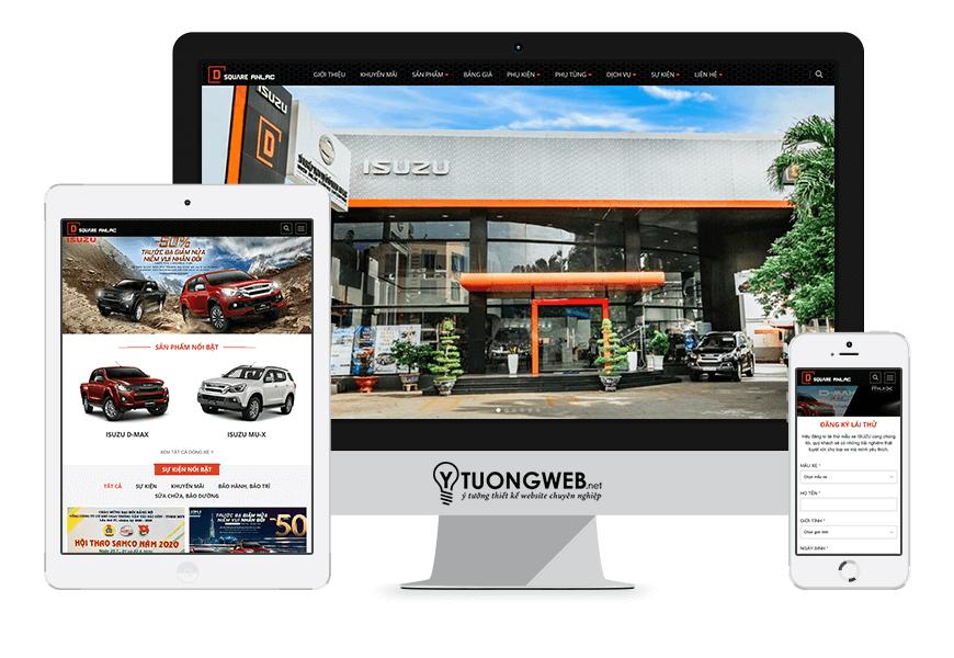 Thiết kế website responsive mua bán ôtô D-SQUARE AN LẠC