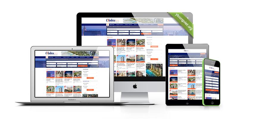 Thiết kế website reponsive bất động sản Badosa.com.vn