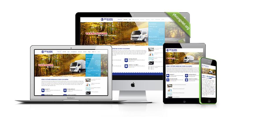 Thiết kế website reponsive mua bán ô tô Dailybanxetai.vn