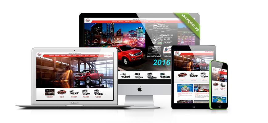 Thiết kế website responsive mua bán ôtô Isuzuanlac.vn