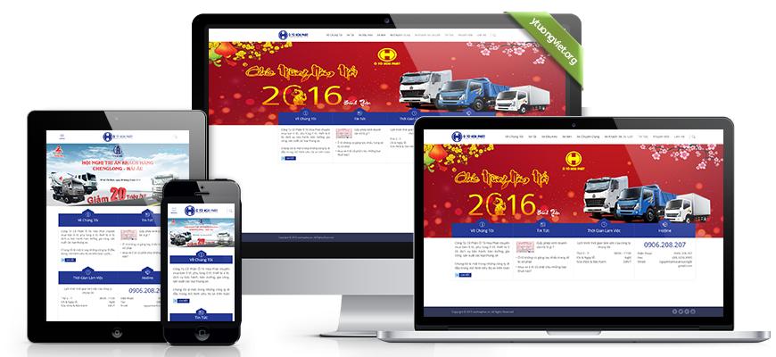 Thiết kế website reponsive mua bán ôtô Otohoaphat.vn