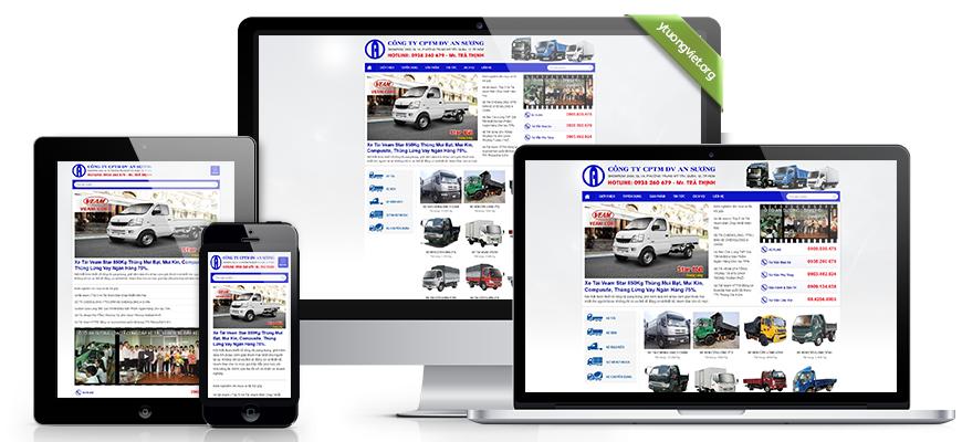 Thiết kế website reponsive mua bán ôtô xetaiansuong.vn