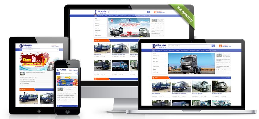 Thiết kế website reponsive mua bán ôtô xetaioto.vn