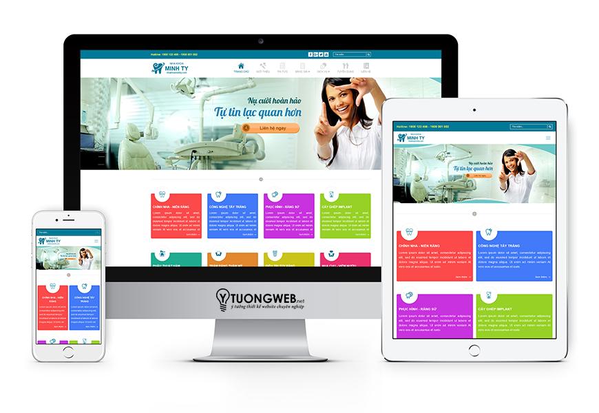 Thiết kế website reponsive nha khoa  - Nhakhoaminhty.com