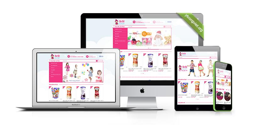 Thiết kế website reponsive shop bán hàng shoptreembebi.com