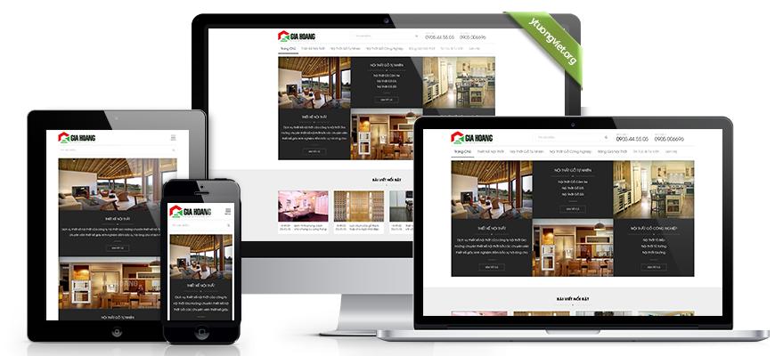 Thiết kế website responsive nội thất noithatgiahoang.com