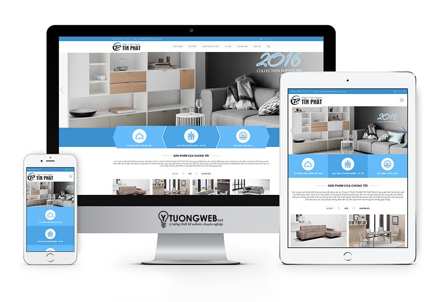 Thiết kế website reponsive nội thất Noithatthietketinphat.com