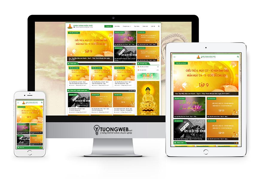 Thiết kế website responsive phật giáo chanthanhniemphat.com