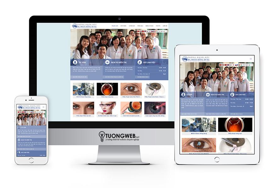 thiết kế website reponsive phòng khám mắt - Bacsimat.vn