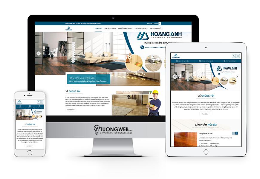 Thiết kế website responsive sàn gỗ Hoanganhwood.com