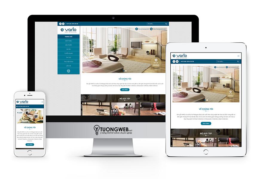 Thiết kế website responsive sàn gỗ Sangovario.com