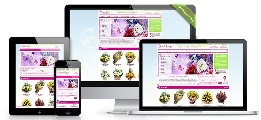 Thiết kế website responsive shop hoa tươi shophoavip.com