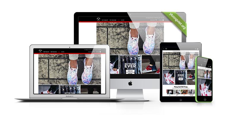 thiết kế website reponsive thời trang Bulldogcloset.vn