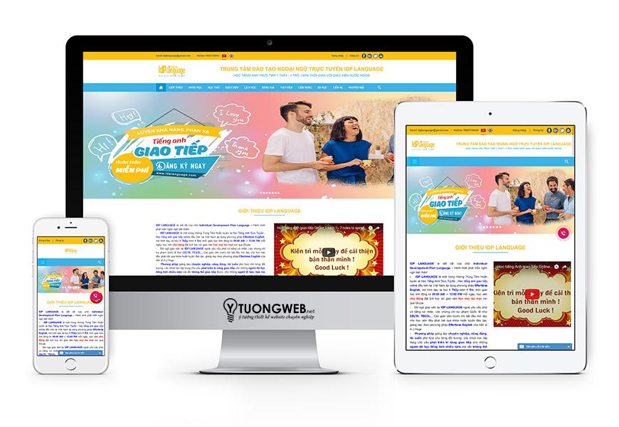Thiết kế website reponsive Trung Tâm Tiếng Anh Idplanguage.com v2017