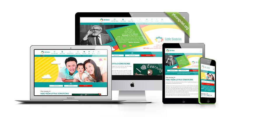 thiết kế website reponsive trường học Little-einsteins.com