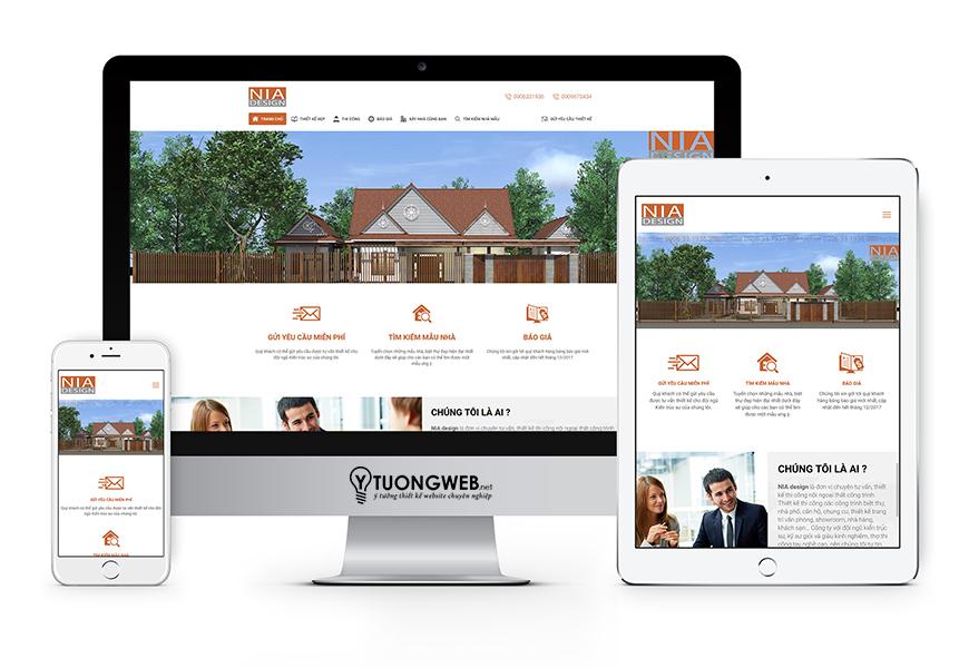 Thiết kế website reponsive kiến trúc xây dựng - Kientrucnia.com