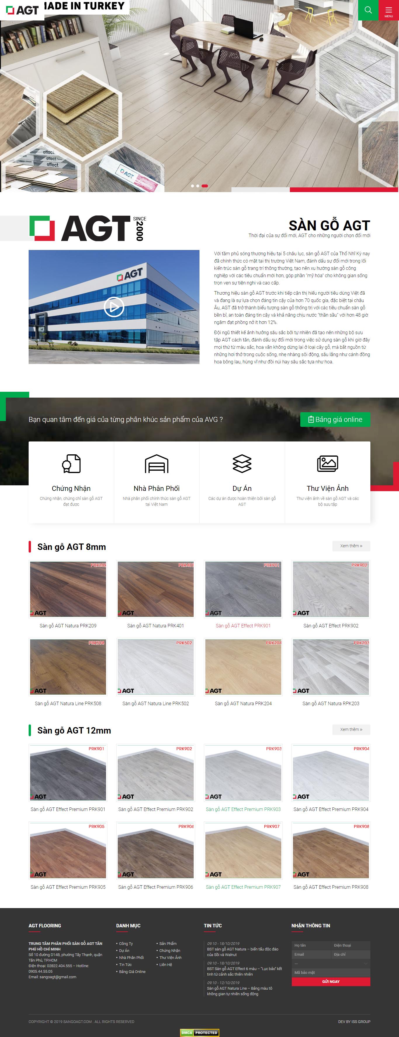 Thiết kế website sàn gỗ sangoagt.com