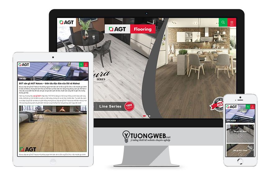 Thiết kế website responsive sàn gỗ sangoagt.com