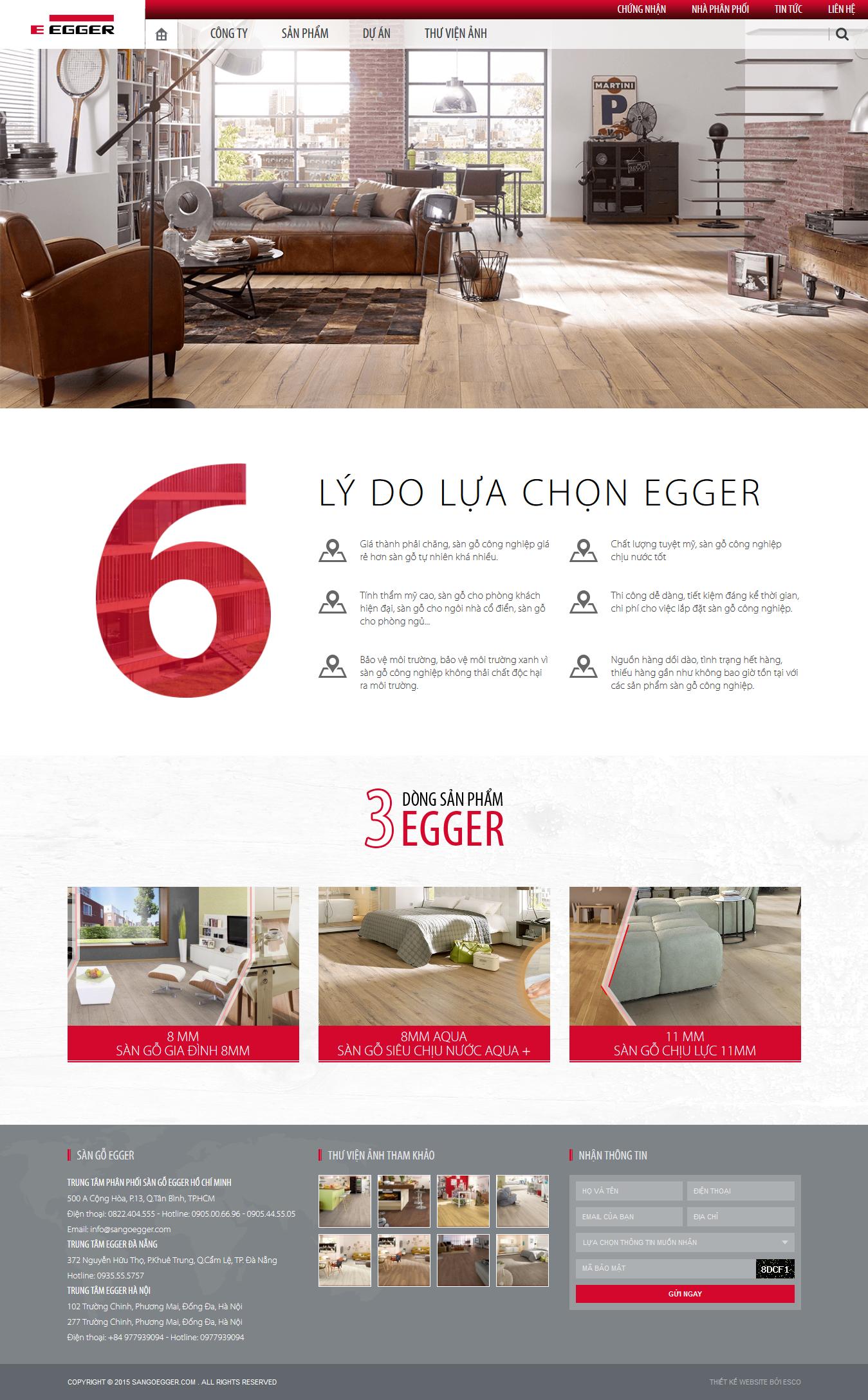 Thiết kế website sàn gỗ Sangoegger.com