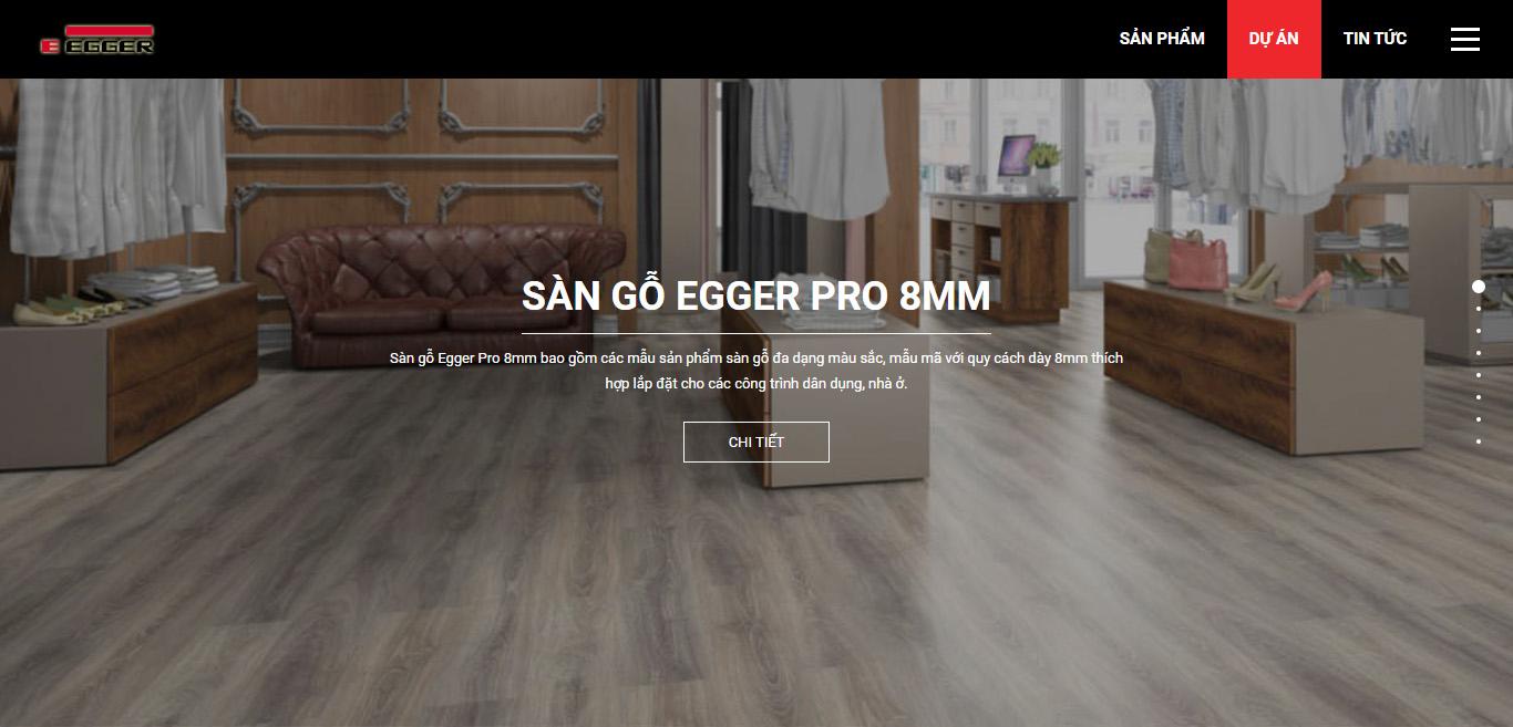 Thiết kế website sàn gỗ sangoeggerpro.com