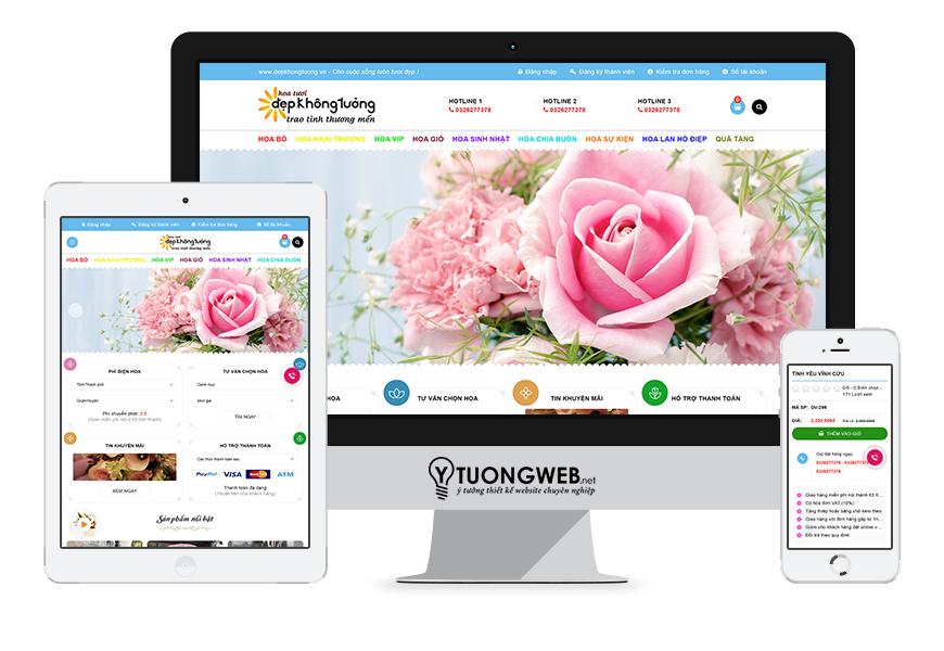 Thiết kế website responsive shop hoa tươi depkhongtuong.vn