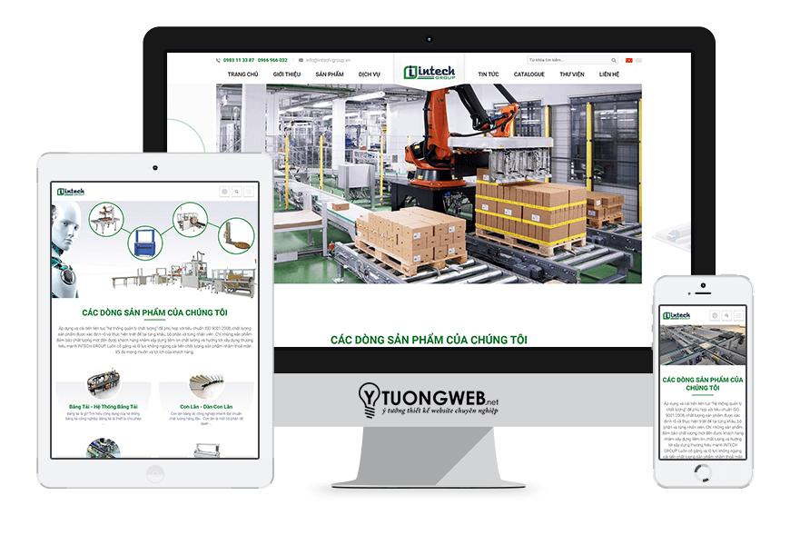 Thiết kế website responsive thiết bị công nghiệp congnghiepviet.com.vn
