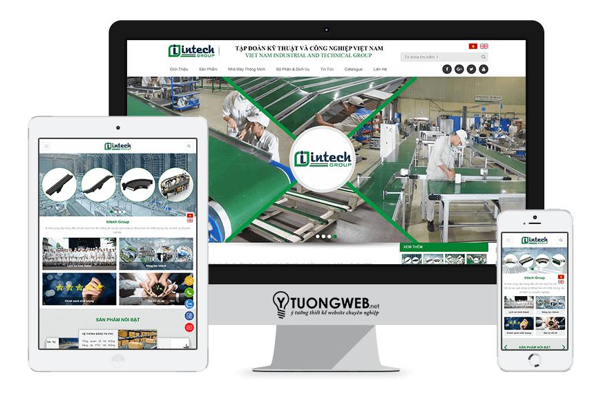 Thiết kế website responsive thiết bị công nghiệp intechvietnam.com