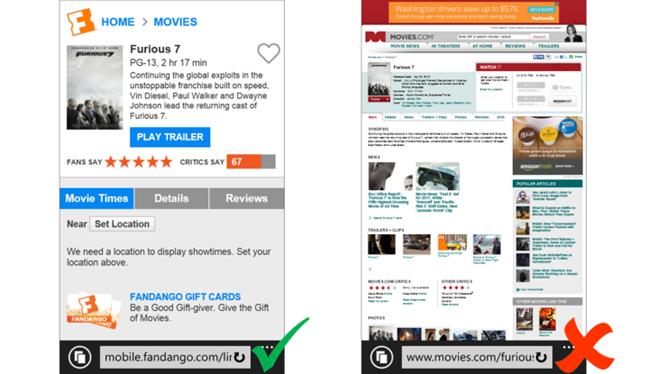 Bing ưu tiên website thân thiện với di động