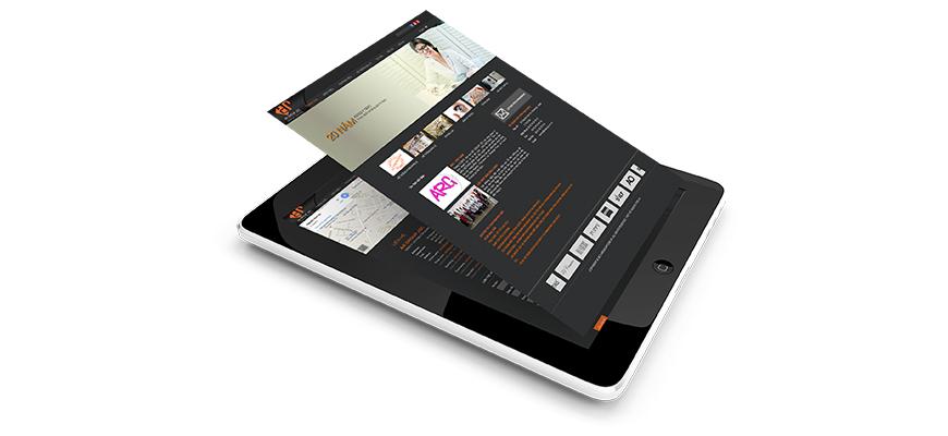 Giao diện website ARGROUP trên ipad