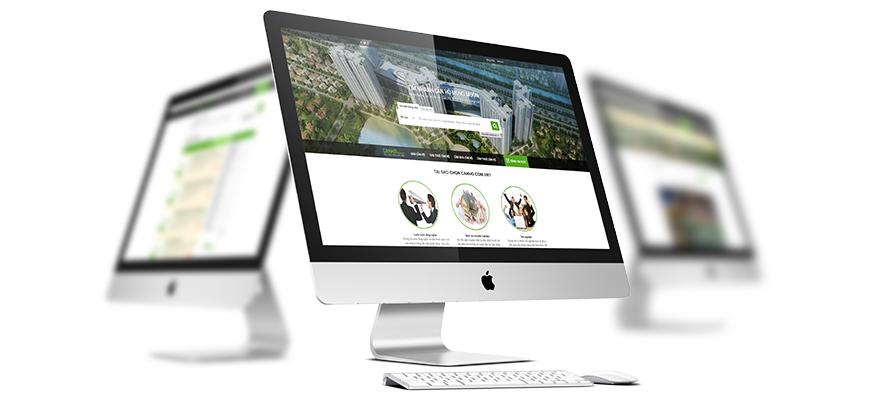 Thiết kế website bất động sản canho.com.vn