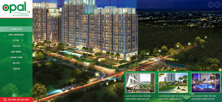 Thiết kế website bất động sản opalriversidethuduc.com.vn