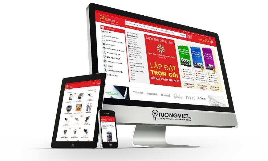 Thiết kế website điện máy điện tử 3splaza.com