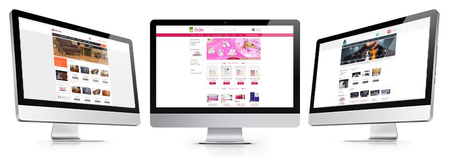 Thiết kế website gian hàng thương mại điện tử niv.vn giao diện gian hàng