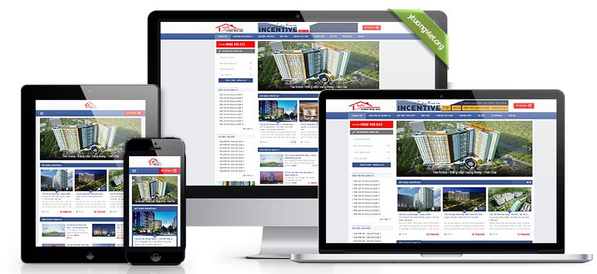 Thiết kế website responsive bất động sản can-ho.vn