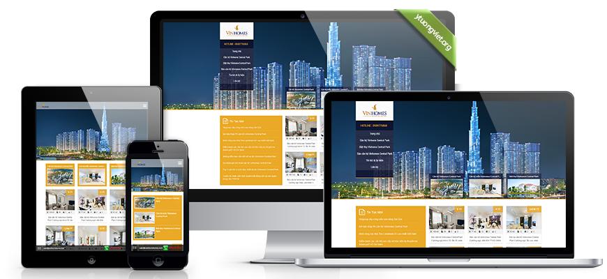 Thiết kế website responsive bất động sản canhovinhome.com