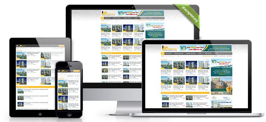 Thiết kế website responsive bất động sản raovatbds.com.vn