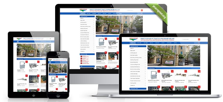 Thiết kế website công ty cổ phần kỹ thuật và công nghiệp việt nam intechvietnam.com