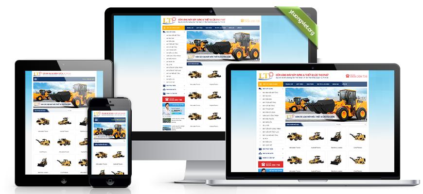 Thiết kế website responsive công ty máy móc và thiết bị xây dựng Lộc Thọ Phát mayxaydungltp.com