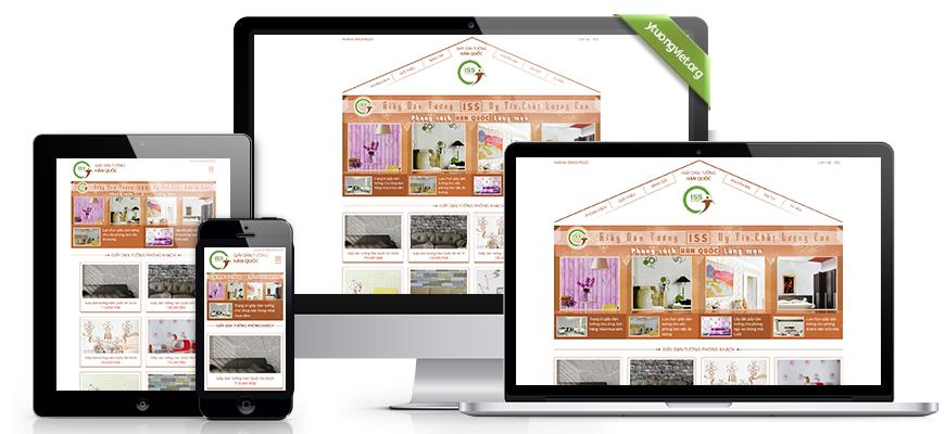 Thiết kế website responsive giấy dán tường giay-dan-tuong.com